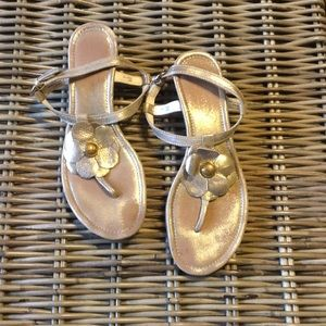 Coach Wedge Sandals Gold 7.5